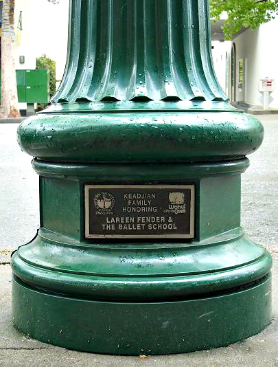 Get your name up on a light post in downtown Walnut Creek.